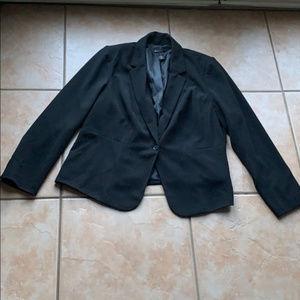3/$30 Lane Bryant Black Single Button Blazer 18